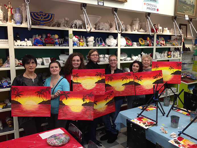 Paint n wine 11 art station for Wine and painting mn