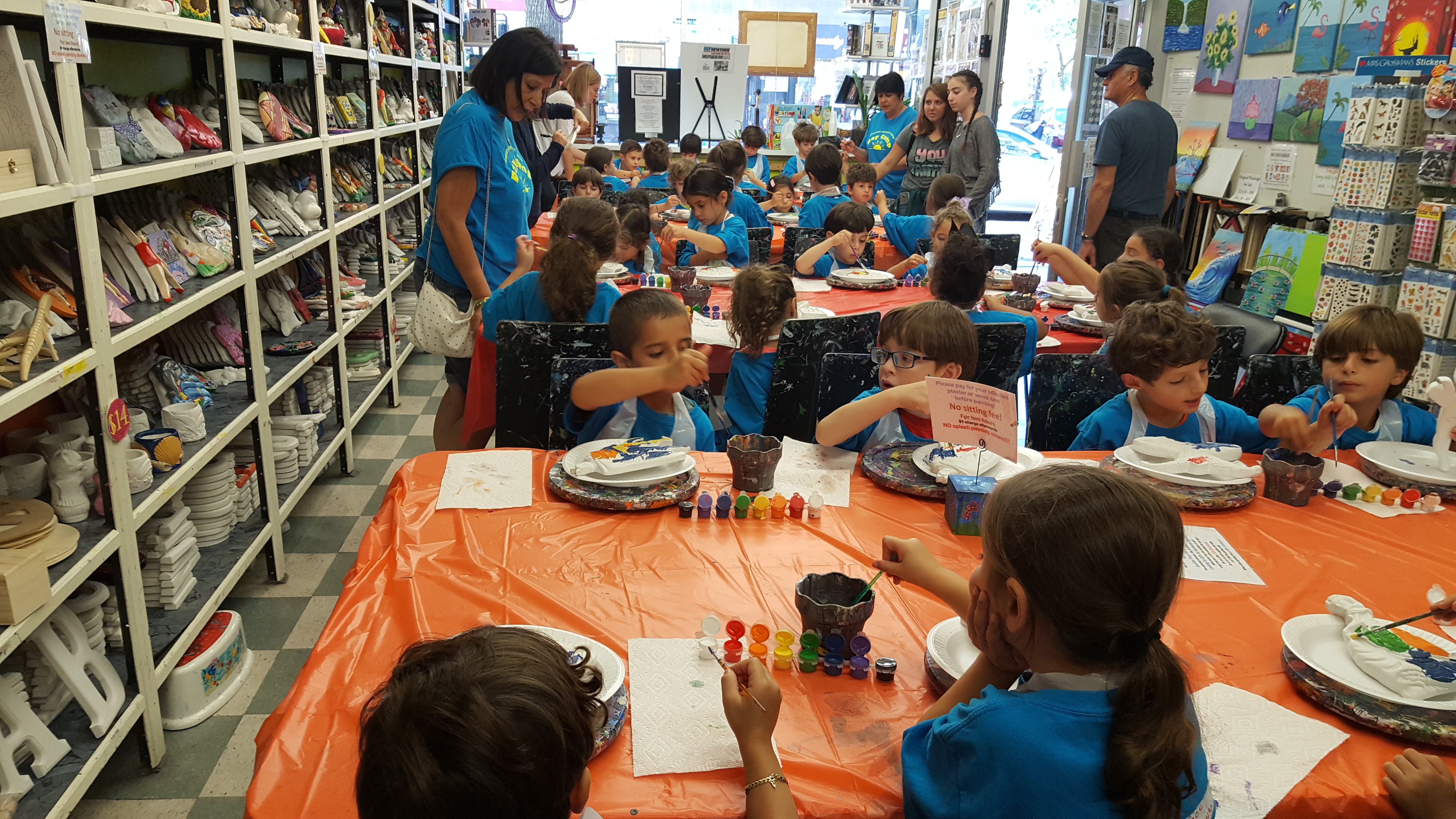 School and Camp Trips at the Art Station, The Art, Party, and Framing Place