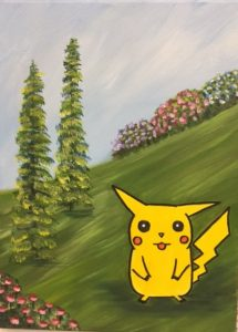 Pikachu Pokemon Painting - For Classes and Parties at the Art Station, The Art, Party, and Framing Place