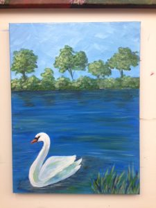 Swan Painting - For Classes and Parties at the Art Station, The Art, Party, and Framing Place