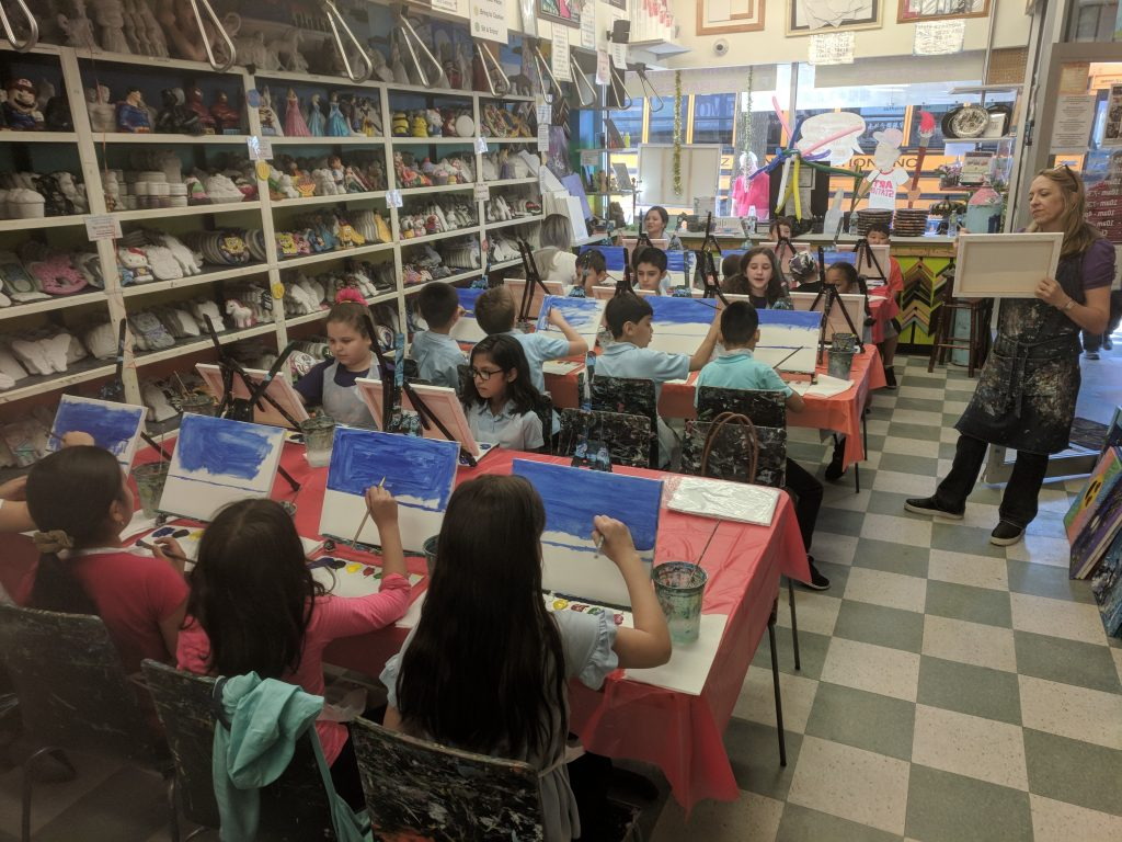Painting with PS 197 at Art Station