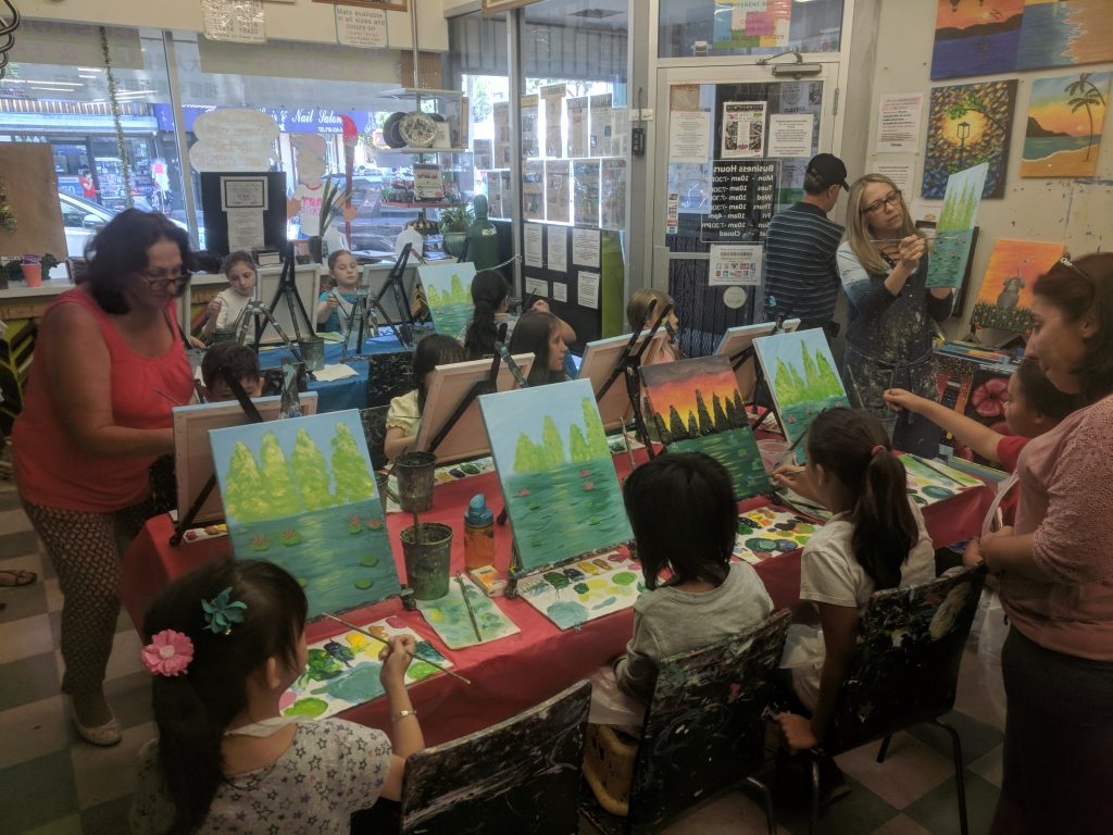 Paint and Cookies with Regina at the Art Station
