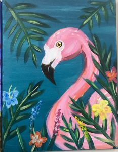 Flamingo Painting - For Classes and Parties at the Art Station, The Art, Party, and Framing Place