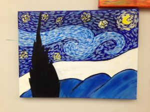 Van Gogh Starry Night Painting - For Classes and Parties at the Art Station, The Art, Party, and Framing Place