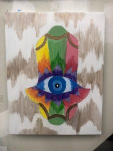 Hamsa Painting - For Classes and Parties at the Art Station, The Art, Party, and Framing Place
