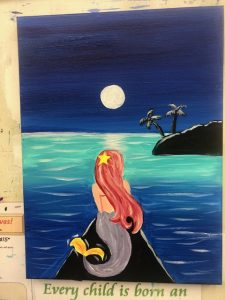 Mermaid Painting - For Classes and Parties at the Art Station, The Art, Party, and Framing Place