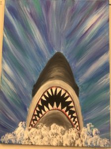 Shark Painting - For Classes and Parties at the Art Station, The Art, Party, and Framing Place