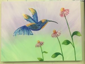 Hummingbird Painting - For Classes and Parties at the Art Station, , The Art, Party, and Framing Place