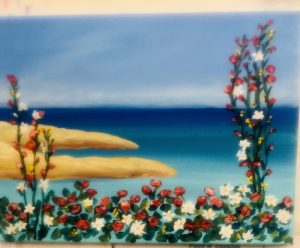 Flowers on the Beach Painting - For Classes and Parties at the Art Station, , The Art, Party, and Framing Place