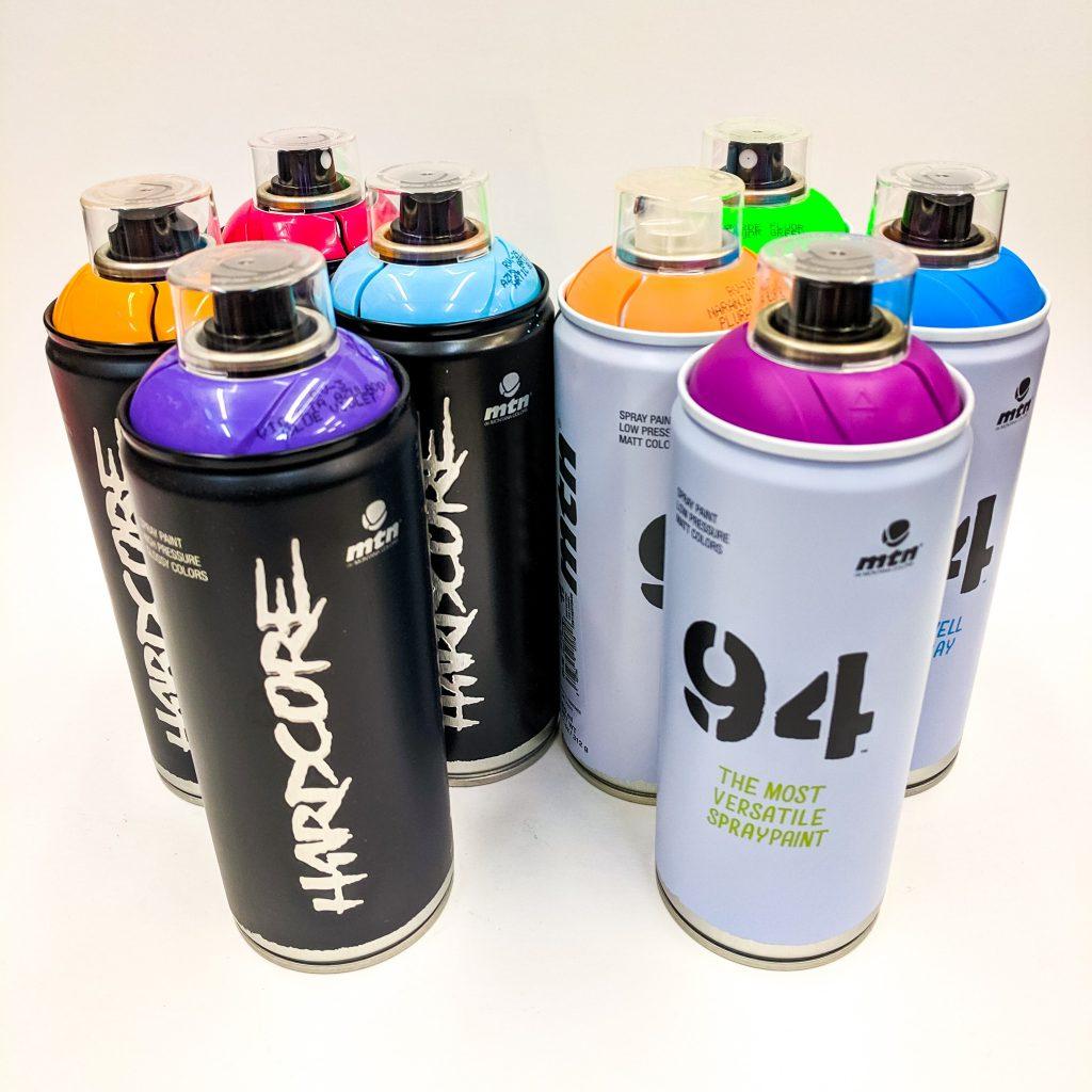 MTN Hardcore and 94 Spray Paint