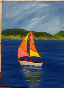 Sail Boat Painting - For Classes and Parties at the Art Station, , The Art, Party, and Framing Place