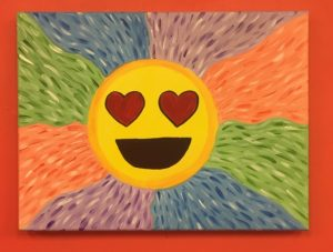 Smile with Heart Eyes Painting - For Classes and Parties at the Art Station, , The Art, Party, and Framing Place