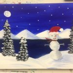 Snowman Painting - For Classes and Parties at the Art Station, , The Art, Party, and Framing Place