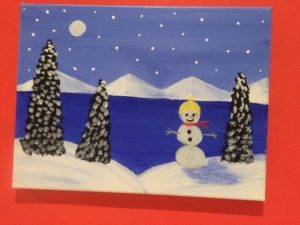 Snowman Painting 2 - For Classes and Parties at the Art Station, , The Art, Party, and Framing Place
