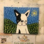Van Gogh Puppy Painting Example - For Classes and Parties at the Art Station