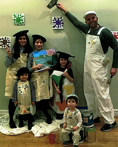 Families who Paint to Together - at the Art Station, The Art, Party, and Framing Place