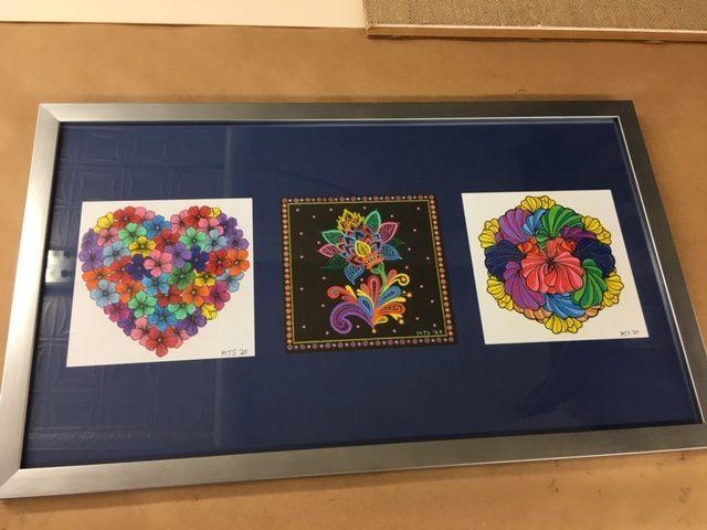 Custom framed coloring book art station