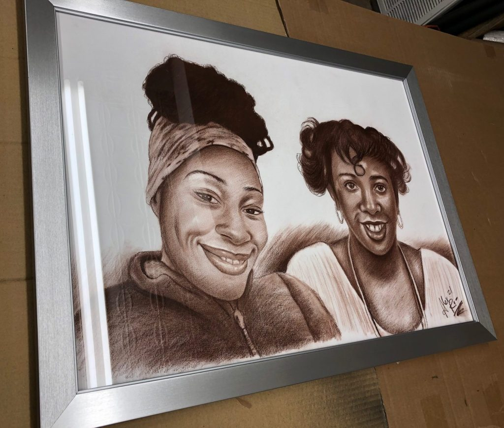 Custome Frame Portrait at the Art Station