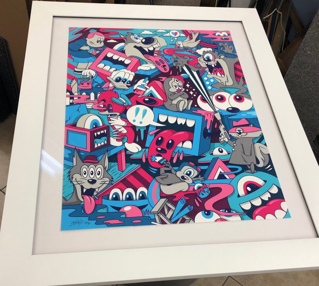 Custome Frame 3 with Museum Glass
